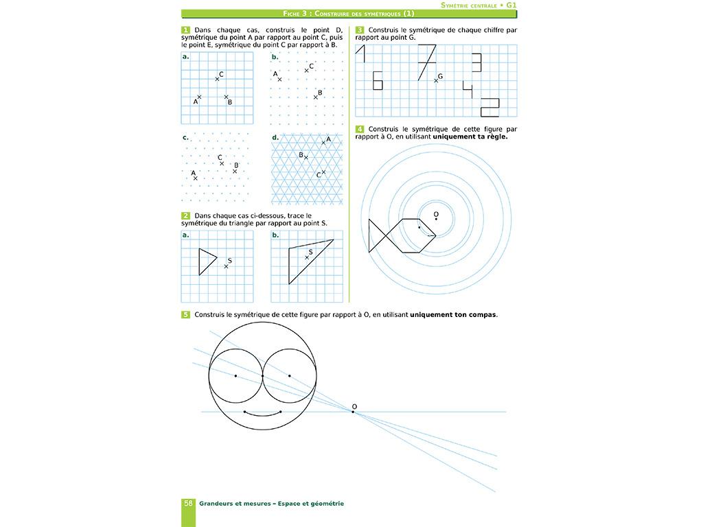 Cahier D'exercices Iparcours Maths 5E (Éd. 2019) pour Symétrie Cm1 Évaluation