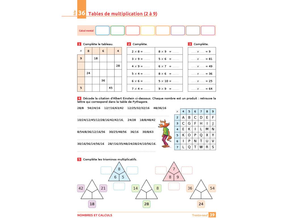 Cahier D'exercices Iparcours Maths Ce2 (Éd. 2018) tout Exercice Ludique