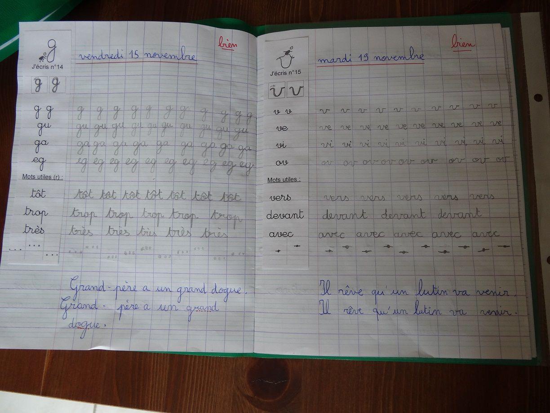 Cahier Écriture Modèle Collé Marge   Cursive, Écrire En à Cahier D Écriture Cp À Imprimer