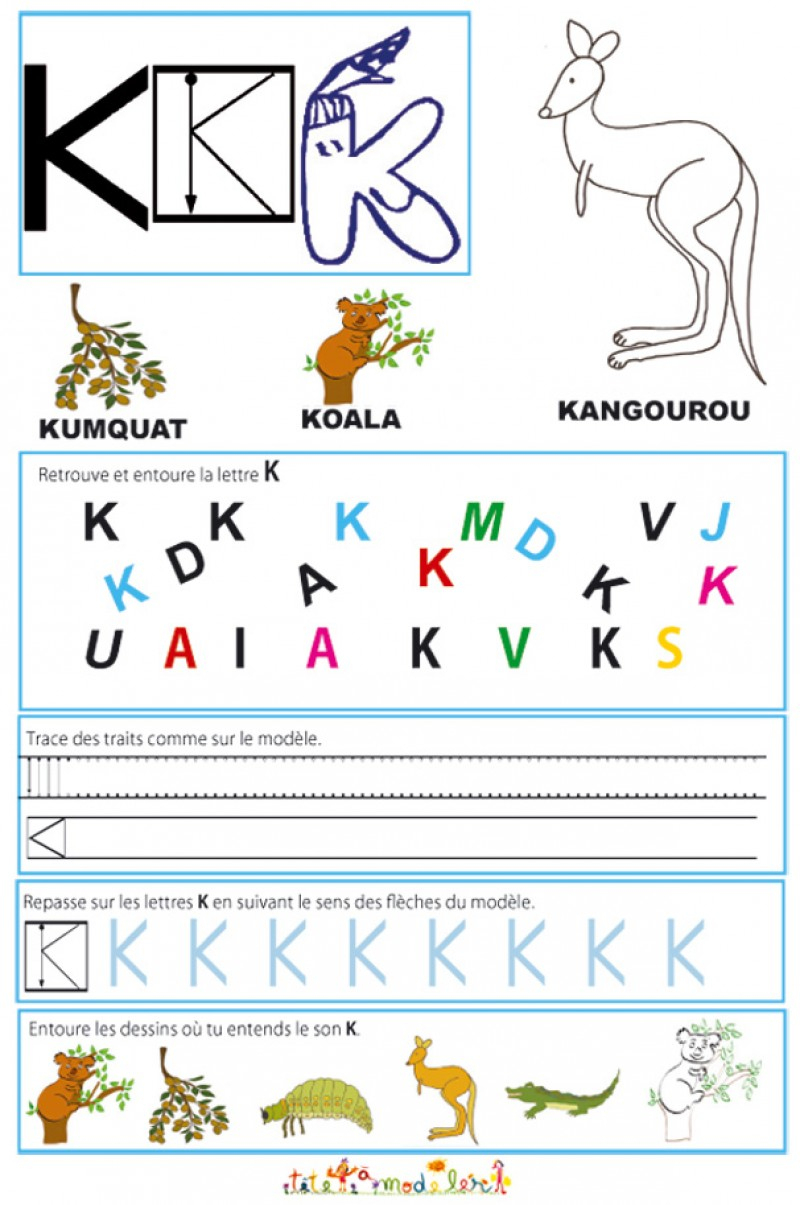 Cahier Maternelle : Cahier Maternelle Des Lettres De L'alphabet à Activités Moyenne Section Maternelle À Imprimer