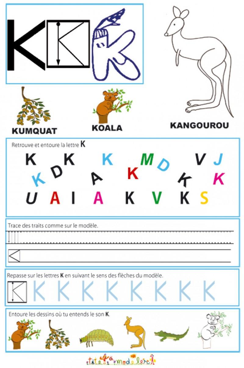Cahier Maternelle : Cahier Maternelle Des Lettres De L'alphabet pour Exercice Grande Section Maternelle Gratuit En Ligne