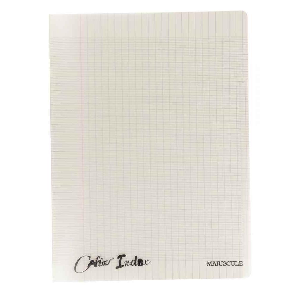 Cahier Piqure 140 Pages, 4 Index, Couverture Polypropylene, Format : 24 X32  Cm, Seyes, 90G Gris concernant Cahier Majuscule