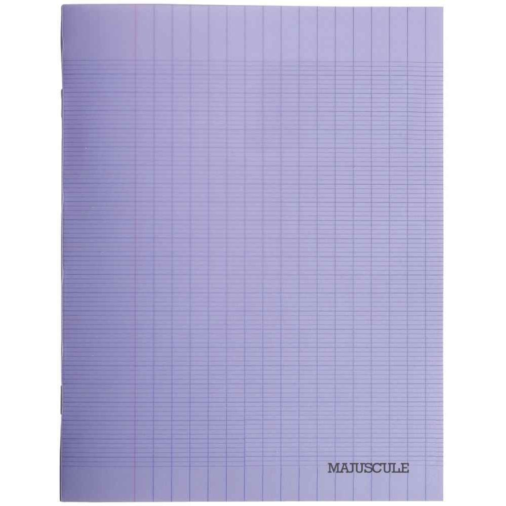 Cahier Piqures Grand Carreaux Polypropylene 17X22 48P 90G Violet destiné Cahier Majuscule