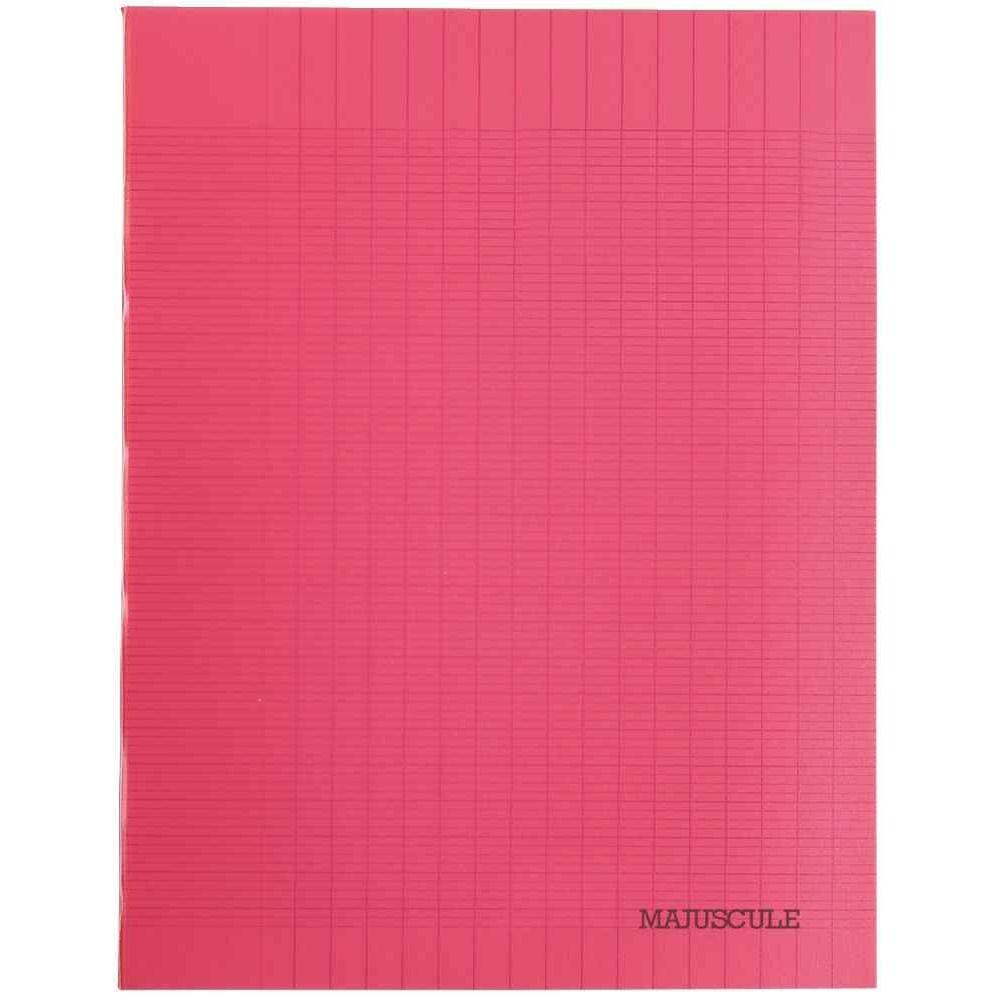 Cahier Piqures Grand Carreaux Polypropylene 17X22 64P 90G Rouge destiné Cahier Majuscule