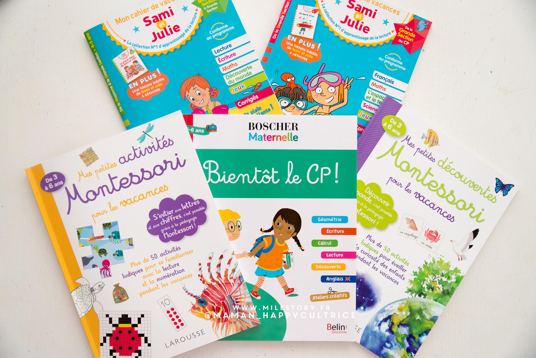 Cahiers De Vacances De La Grande Section Au Cp Pour L'été à Cahier De Vacances Maternelle À Imprimer