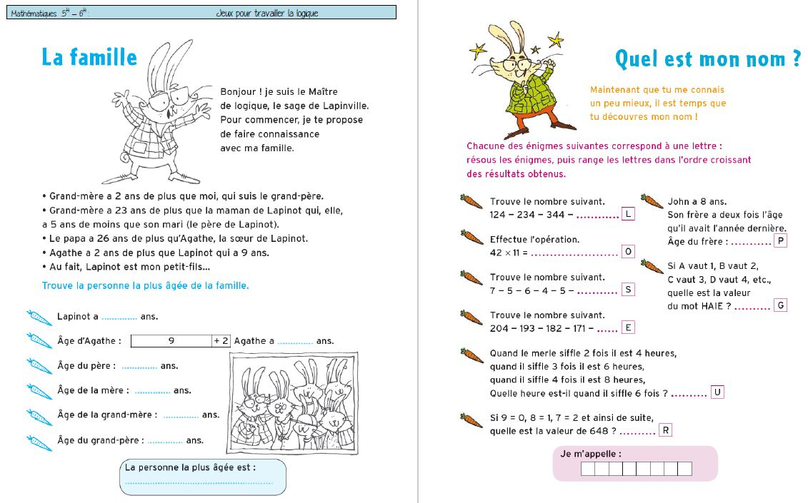 Cahiers De Vacances-Jeux De Raisonnement / Logique Pour 5-6H concernant Je De Logique