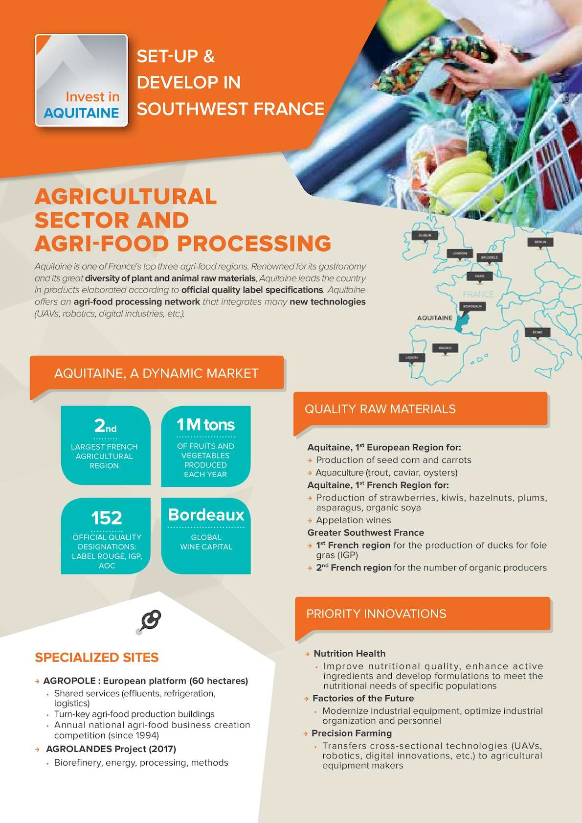Calaméo - Agricultural Sector And Agri-Food Processing encequiconcerne Region De France 2017