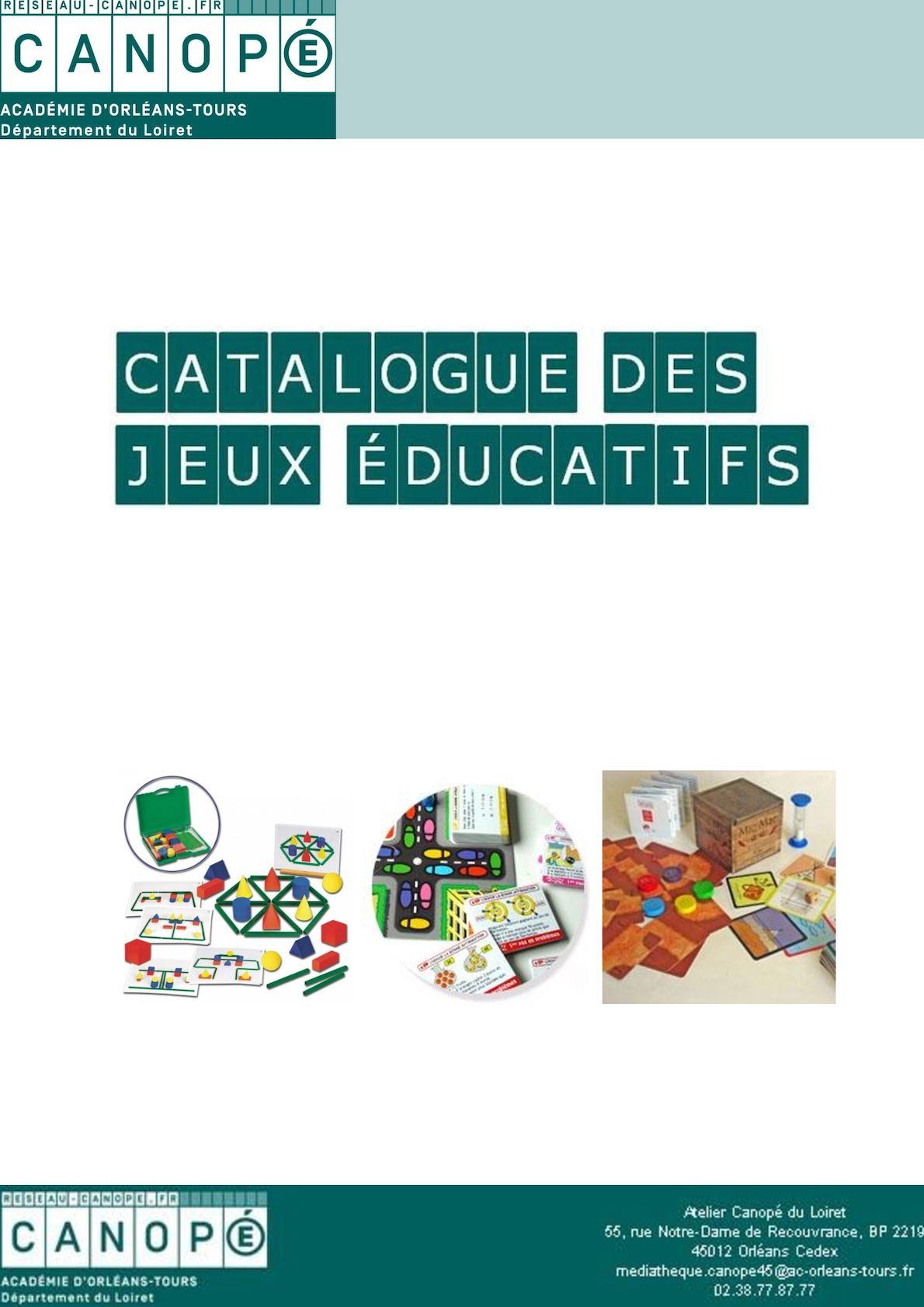 Calaméo - Catalogue Complet Des Jeux Éducatifs à Jeux Educatif Gs