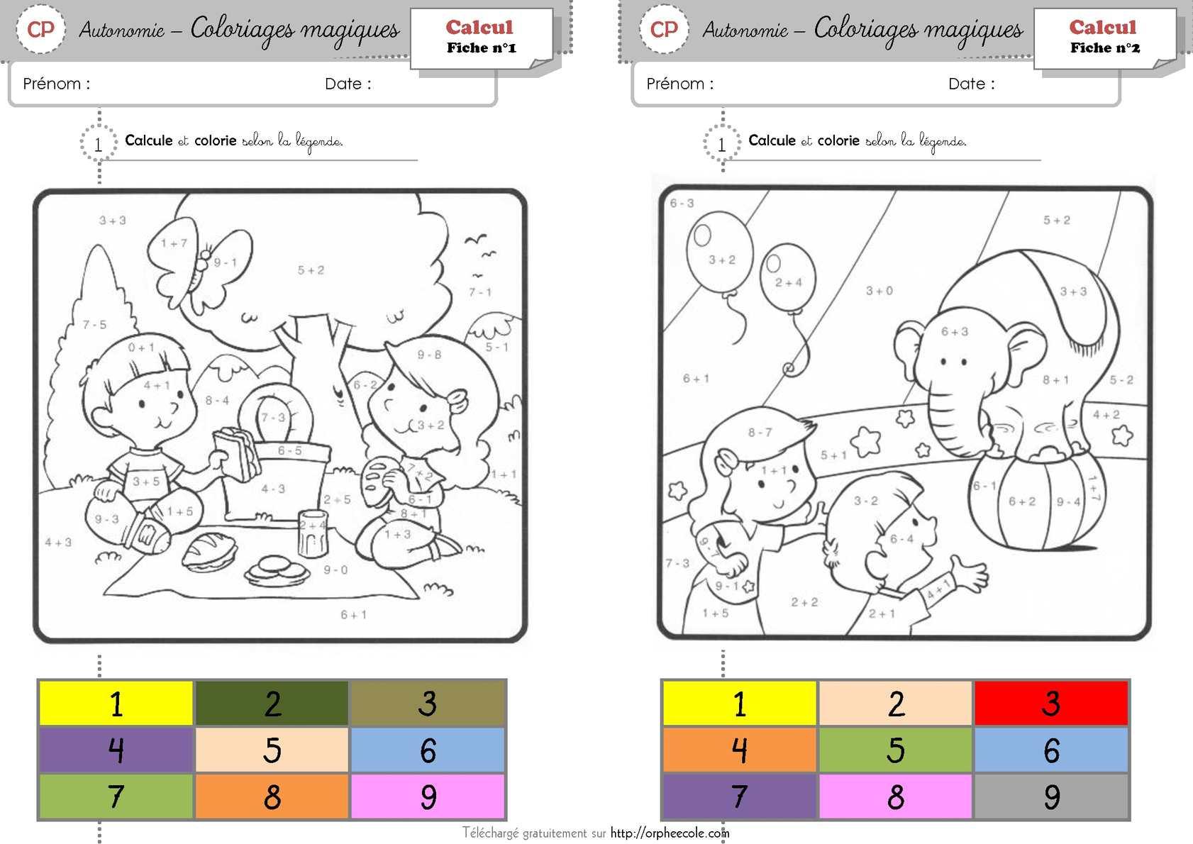 Calaméo - Coloriage Magique - Cp tout Coloriage Codé Cp