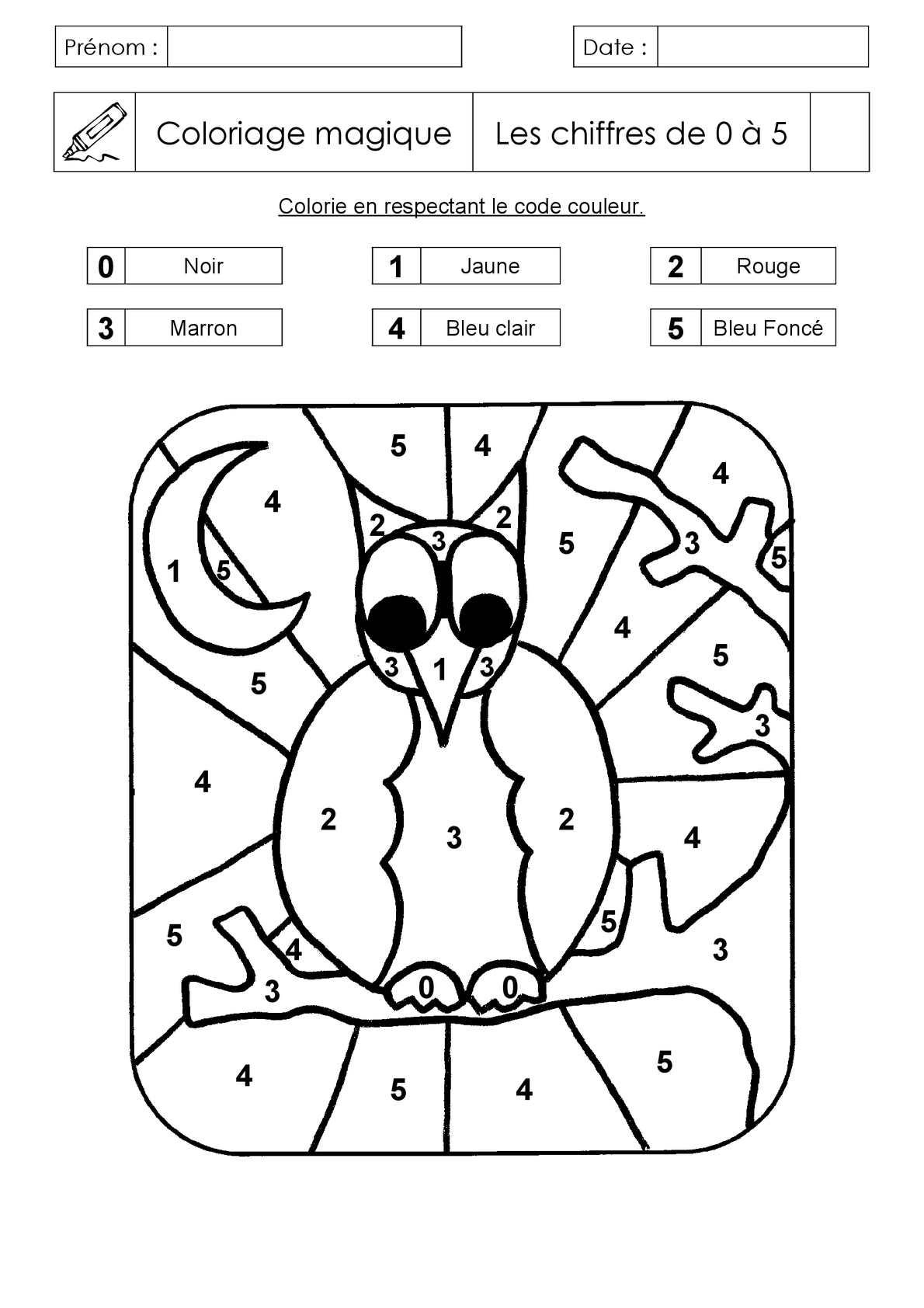Calaméo - Coloriage Magique - Livre 1 pour Coloriage Chiffres 1 À 10