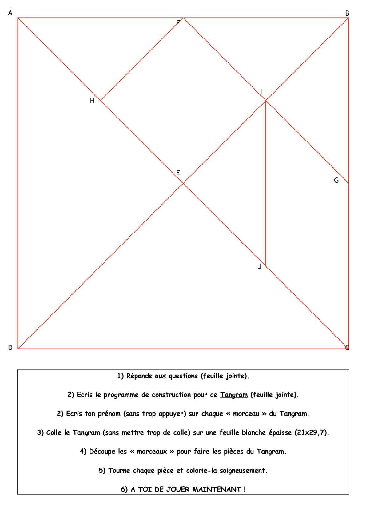 Calaméo - Cycle 3 : Géométrie : Figures Planes (Programme à Tangram À Découper