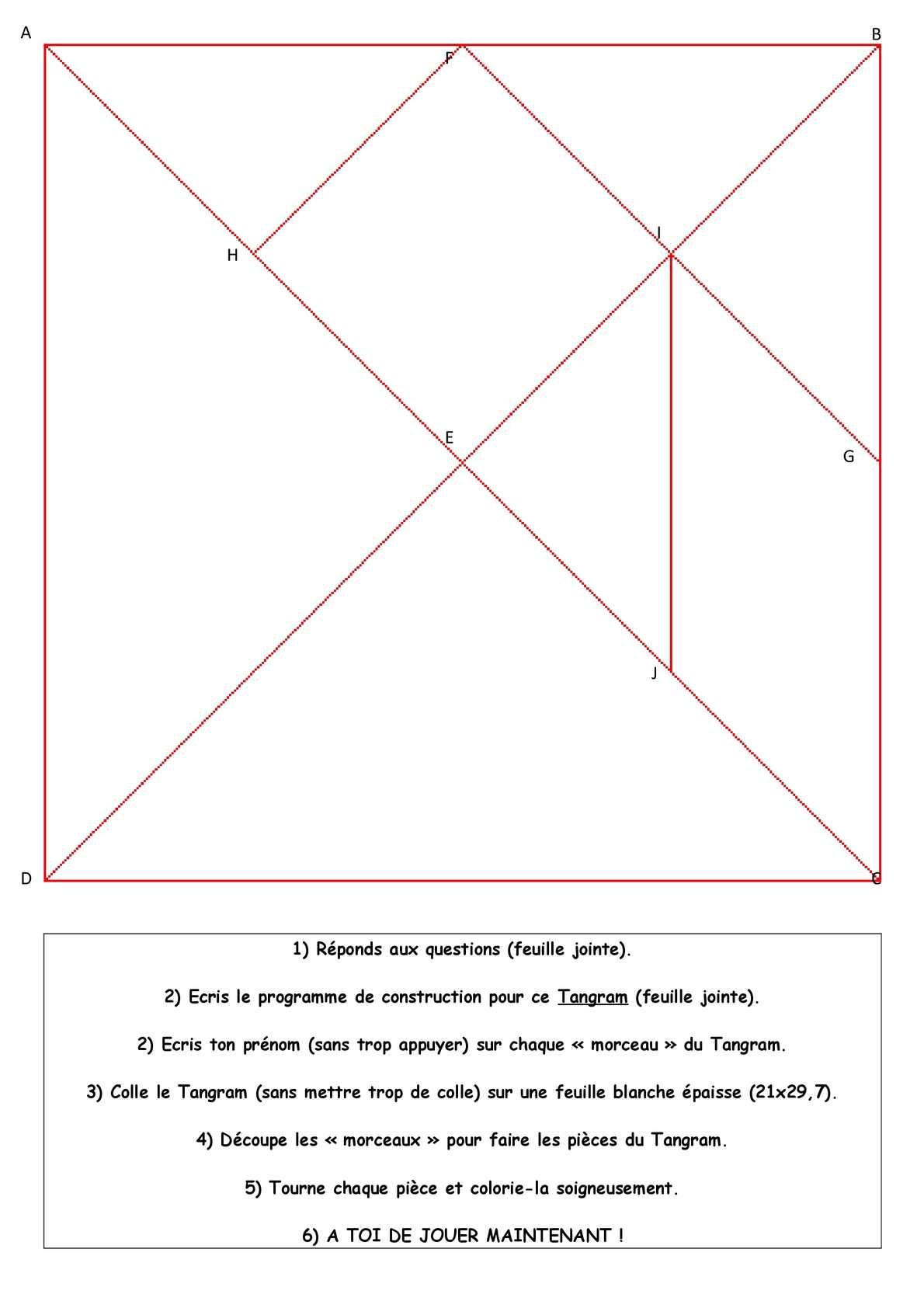 Calaméo - Cycle 3 : Géométrie : Figures Planes (Programme dedans Tangram Carré