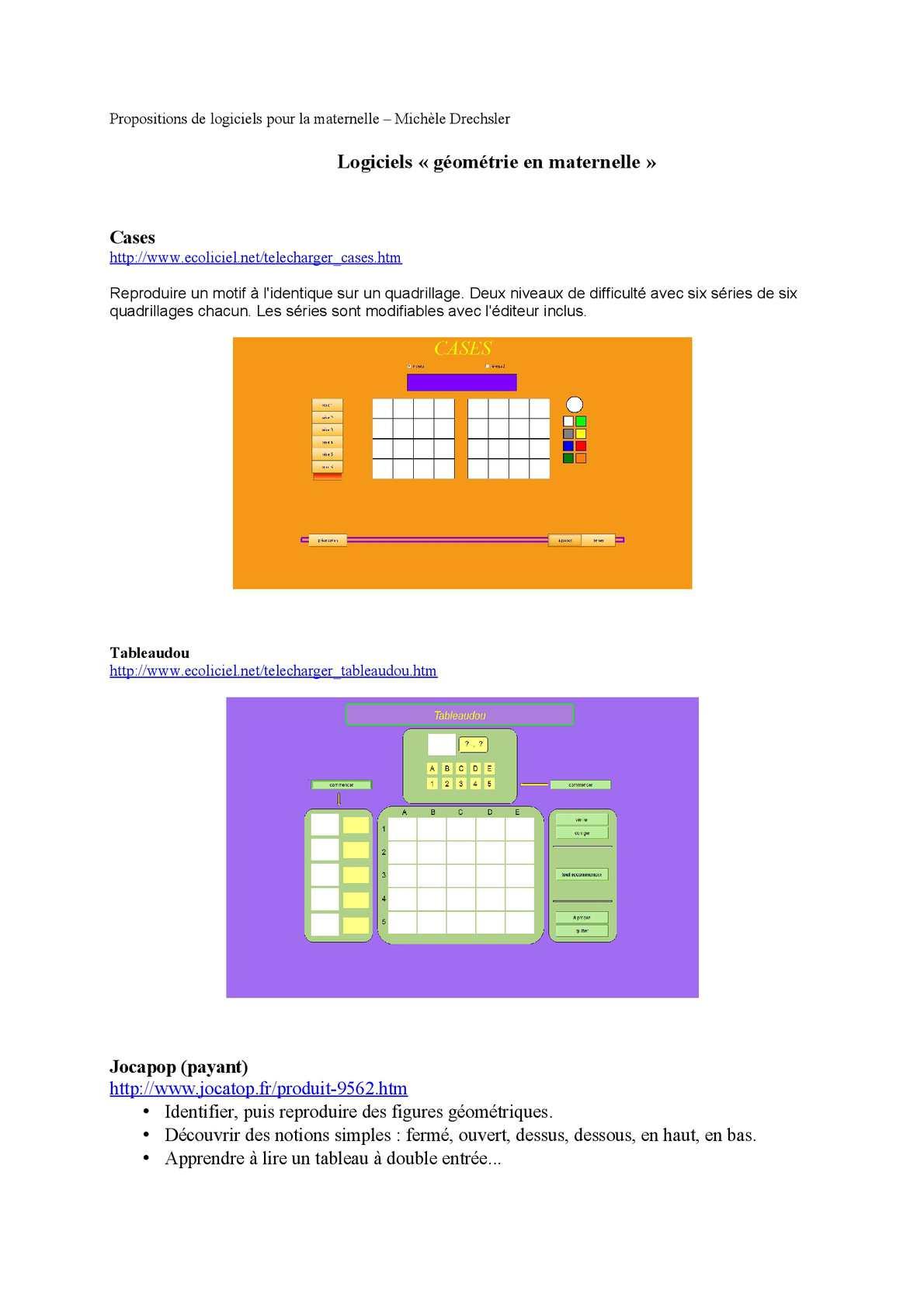 Calaméo - Des Logiciels De Géométrie En Maternelle à Puzzle En Ligne Maternelle