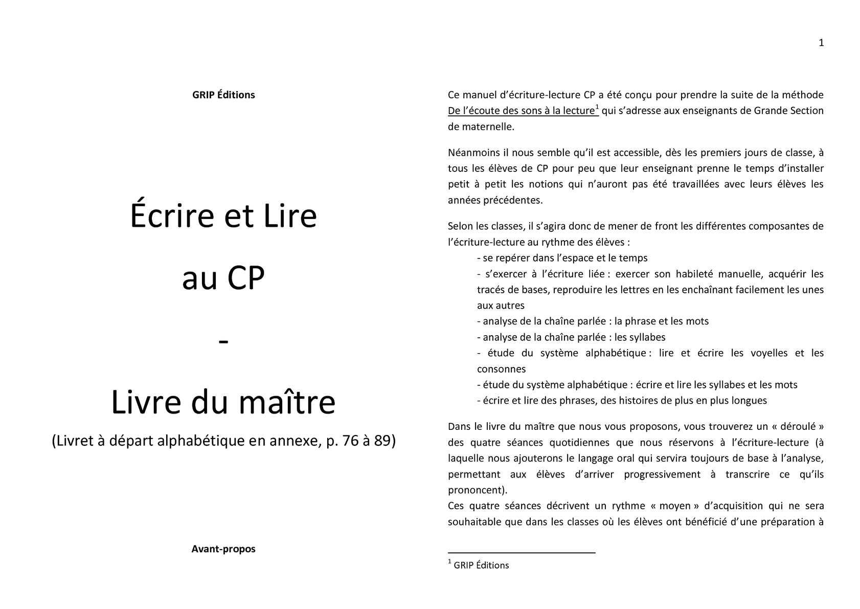 Calaméo - Écrire Et Lire Au Cp - Livre Du Maître + Livret avec Exercice Graphisme Cp