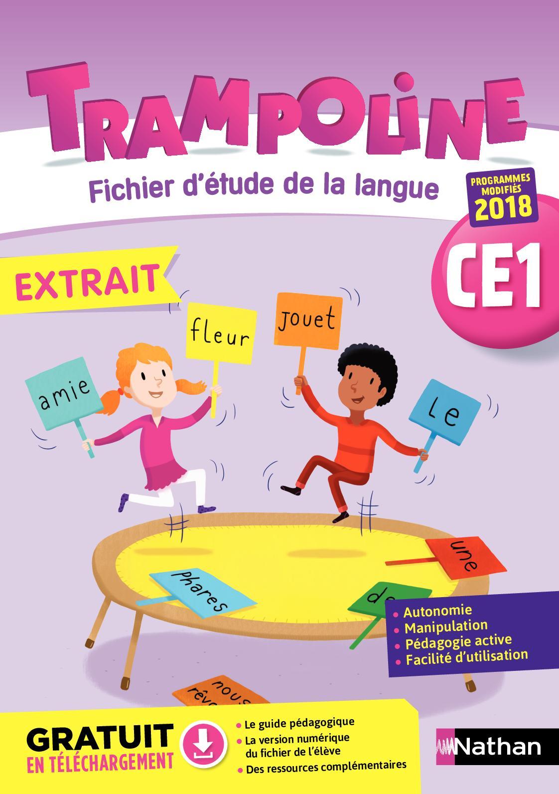 Calaméo - Extrait Trampoline Ce1 Etude De La Langue tout Cours Ce1 Gratuit A Imprimer