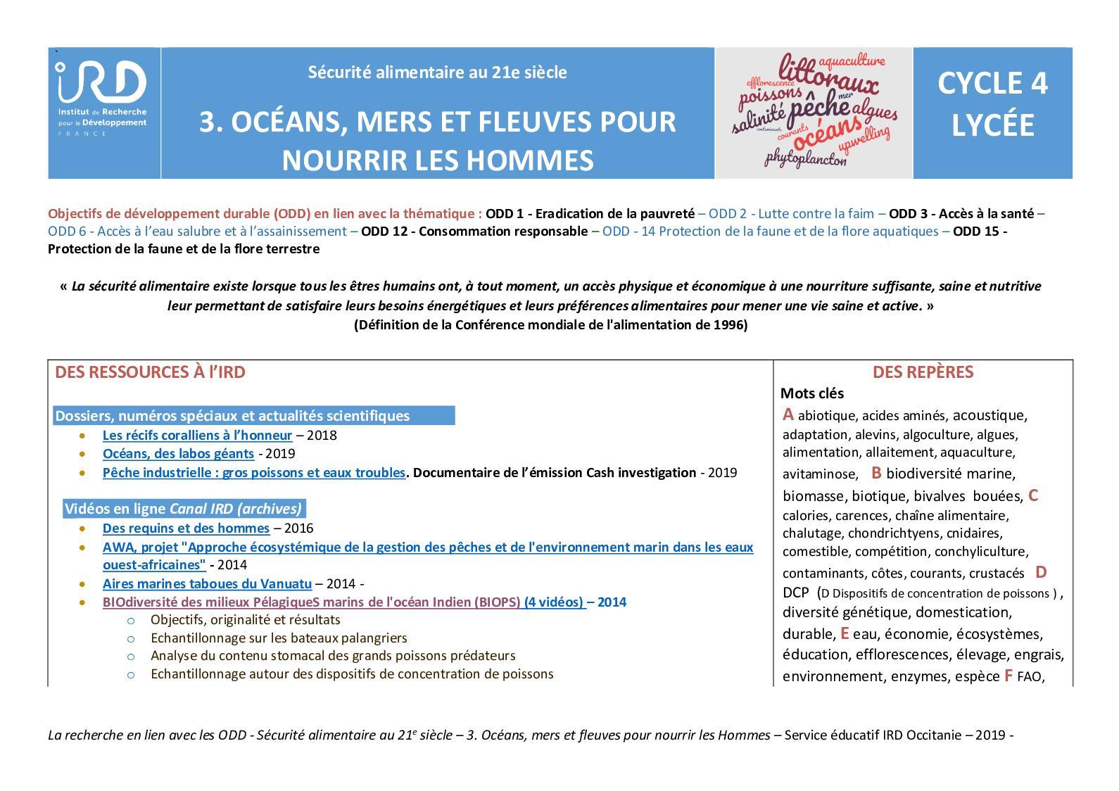 Calaméo - Fiche Thématique Océans, Mers, Fleuves Pour pour Les Fleuves En France Cycle 3