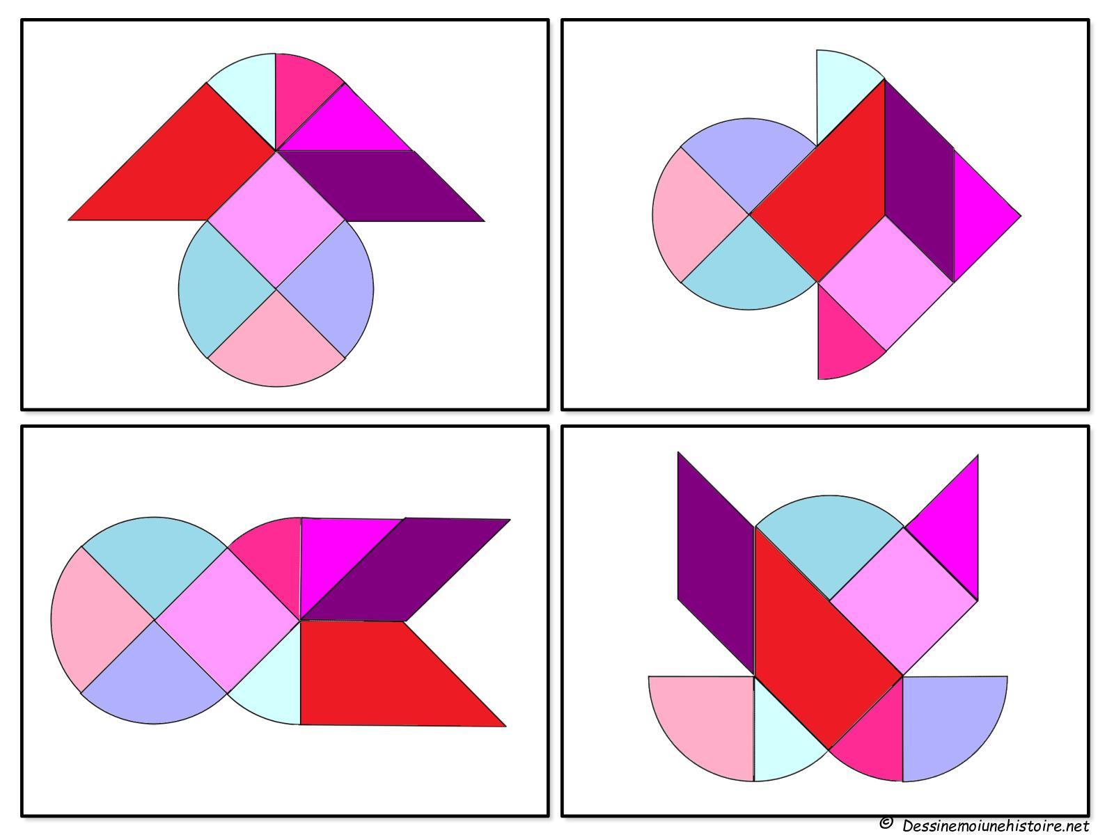 Calaméo - Heart Tangram Puzzles Pattern Printable Tangram tout Tangram A Imprimer