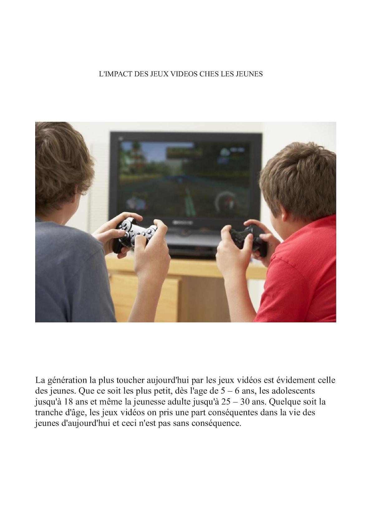 Calaméo - Impacte Jeux Video Diaporama concernant Jeux Video 5 Ans