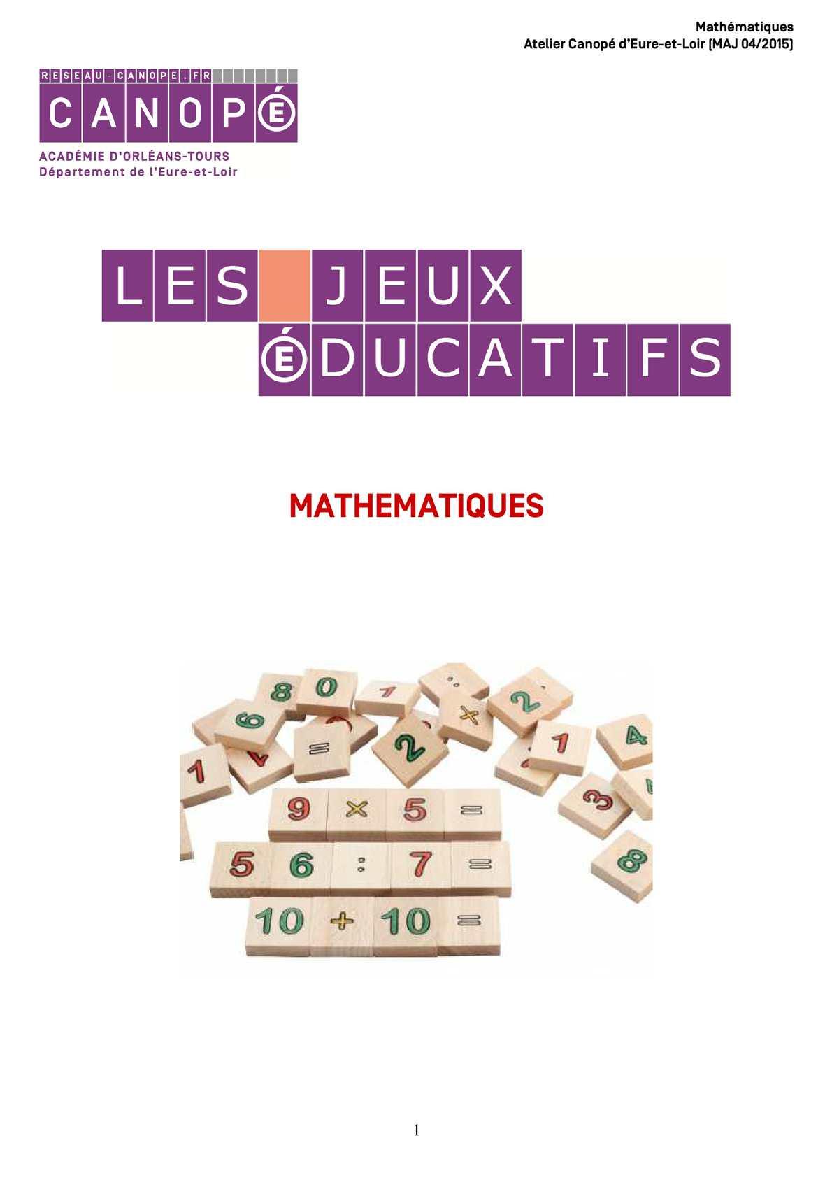 Calaméo - Jeux Educatifs Maths tout Jeux Educatif Gs