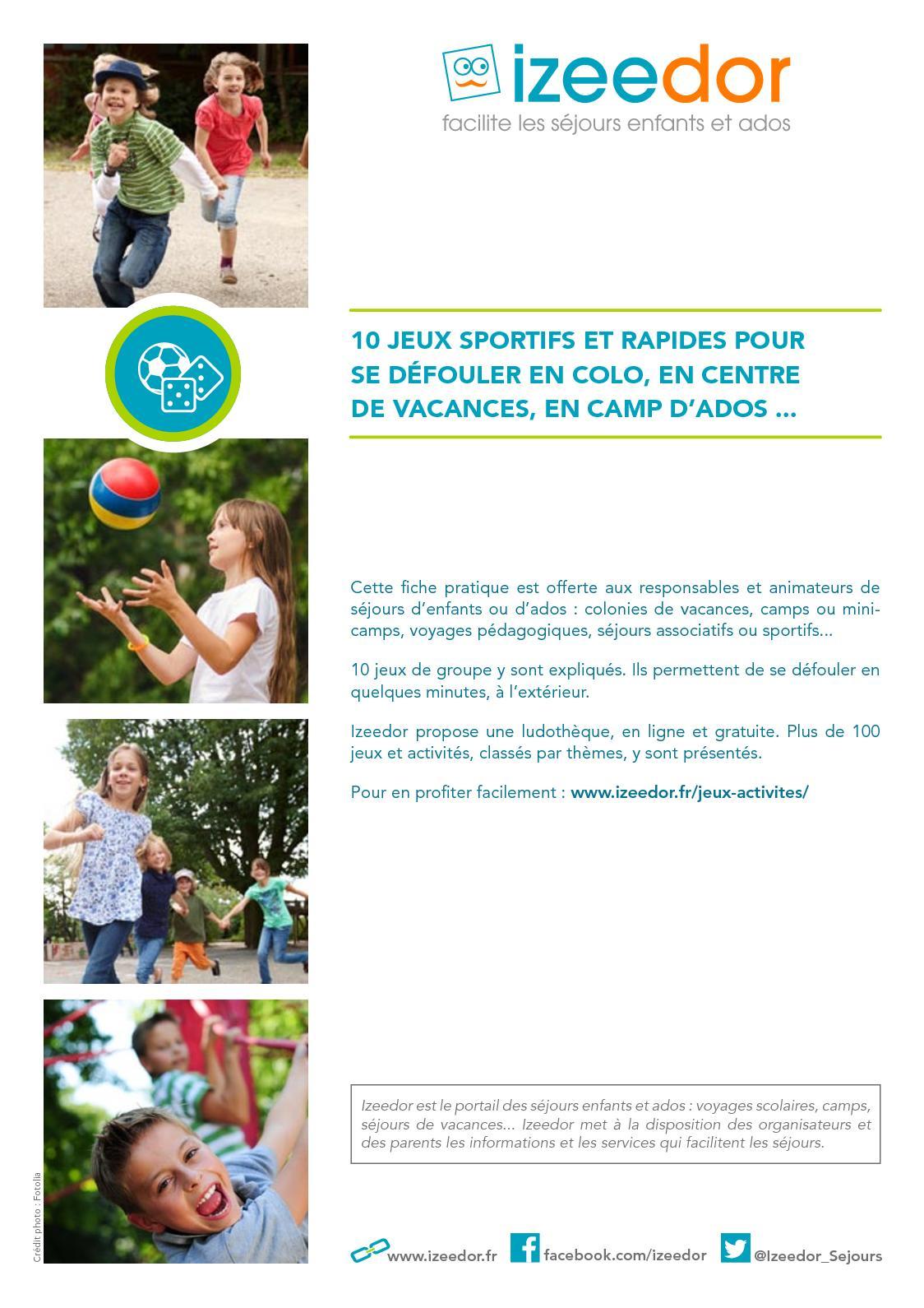 Calaméo - Jeux Pour Se Défouler Avec Des Enfants Ou Ados dedans Jeux Pédagogiques En Ligne