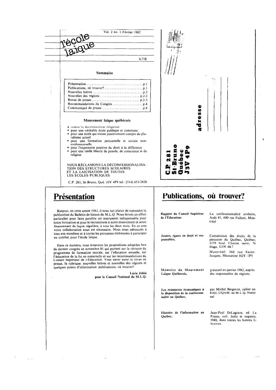 Calaméo - L'école Laïque Vol 2 No 1 (1982) à Trouver Les Difference