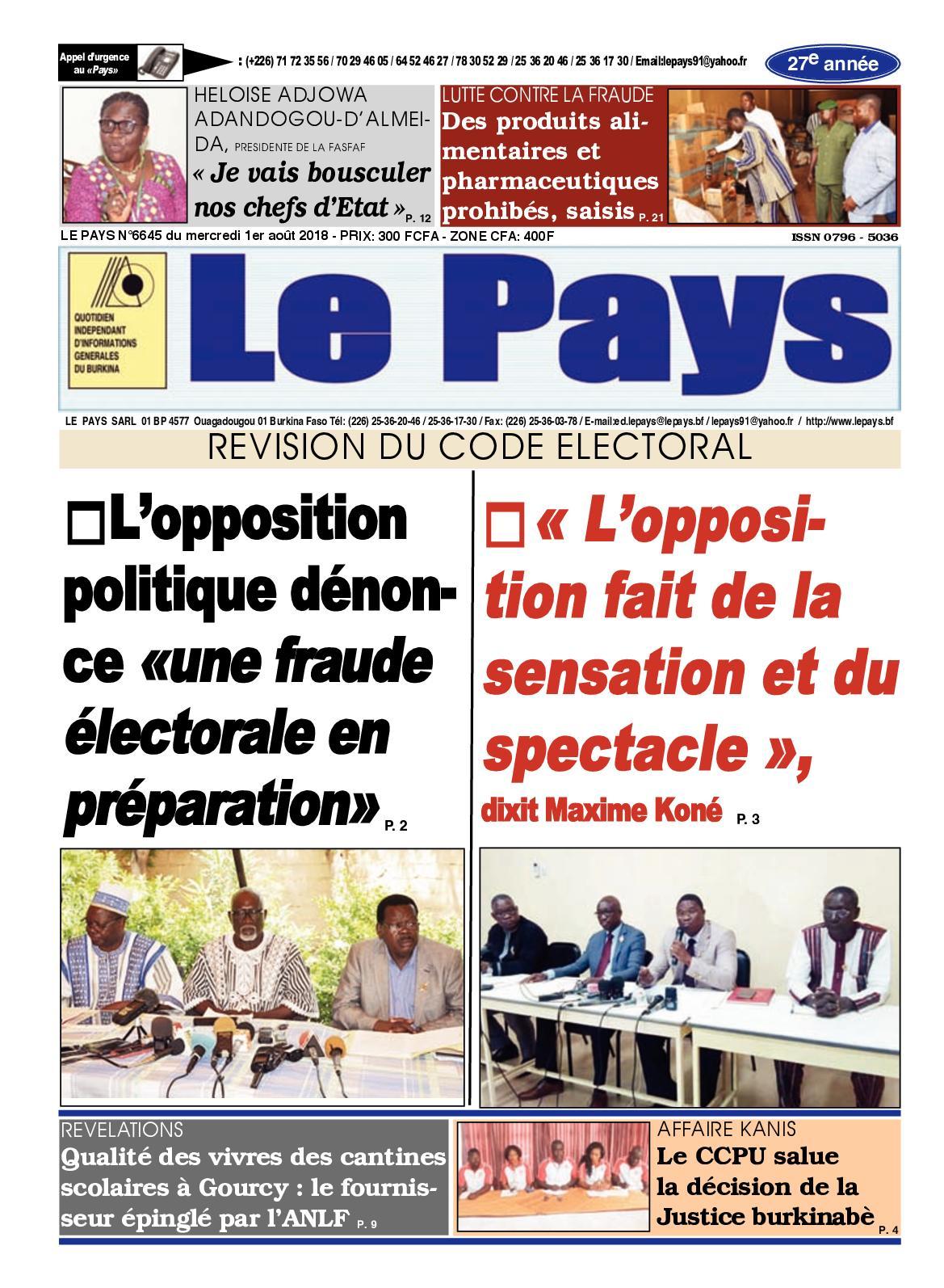 Calaméo - Lepays 20180801 20180801 6645 concernant Prohibé Mots Fléchés