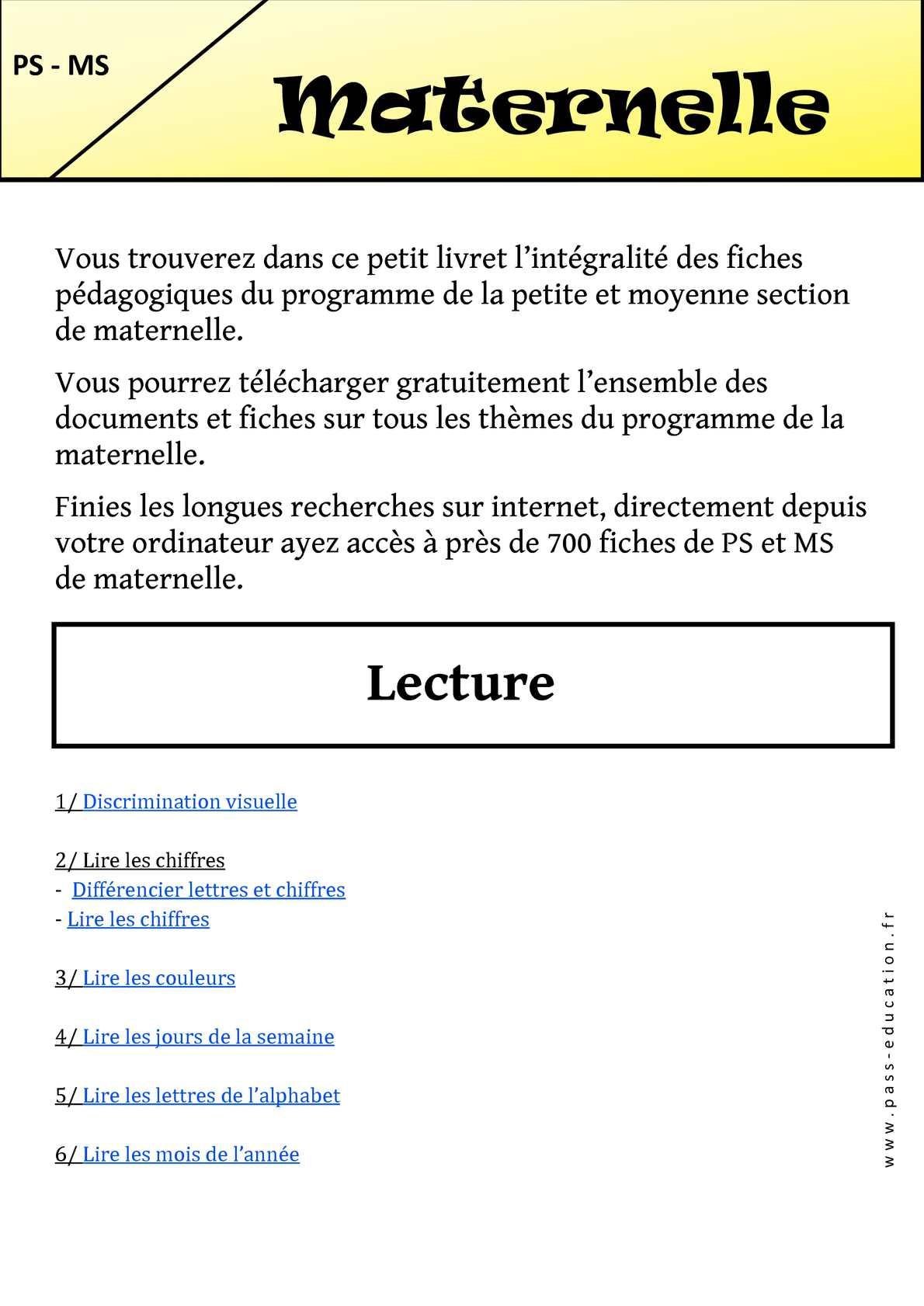 Calaméo - Maternelle – Cycle 1 - Livrets Pédagogiques intérieur Fiche Graphisme Ms