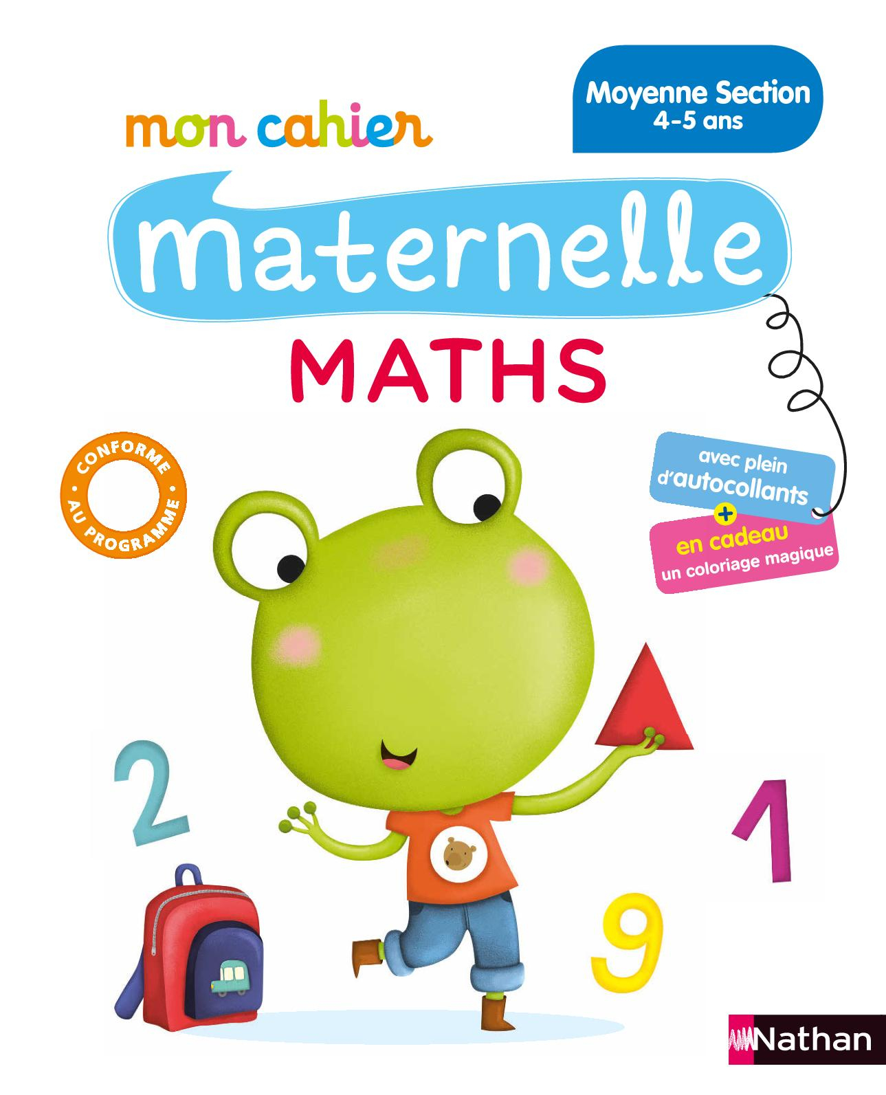Calaméo - Mon Cahier Maternelle Maths - 4-5 Ans - Extrait encequiconcerne Coloriage Magique Petite Section