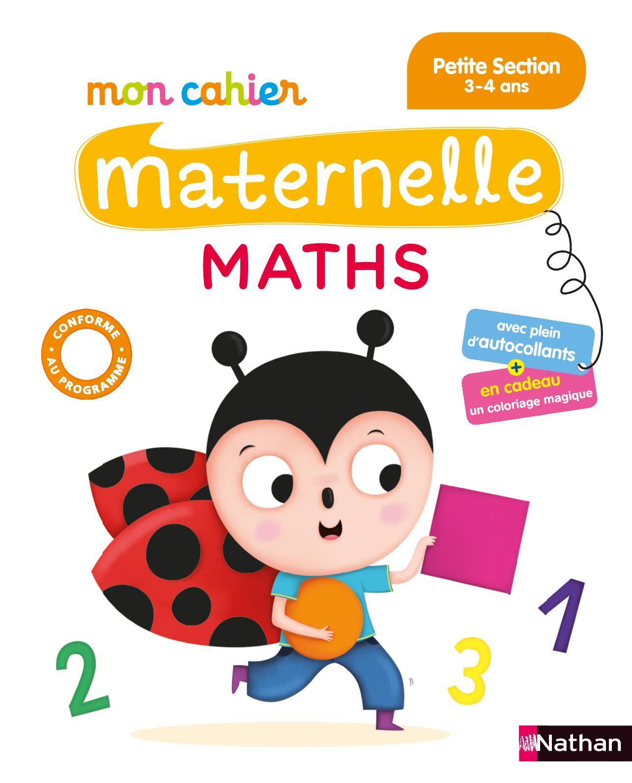 Calaméo - Mon Cahier Maternelle Maths - Petite Section - Extrait intérieur Coloriage Magique 4 Ans