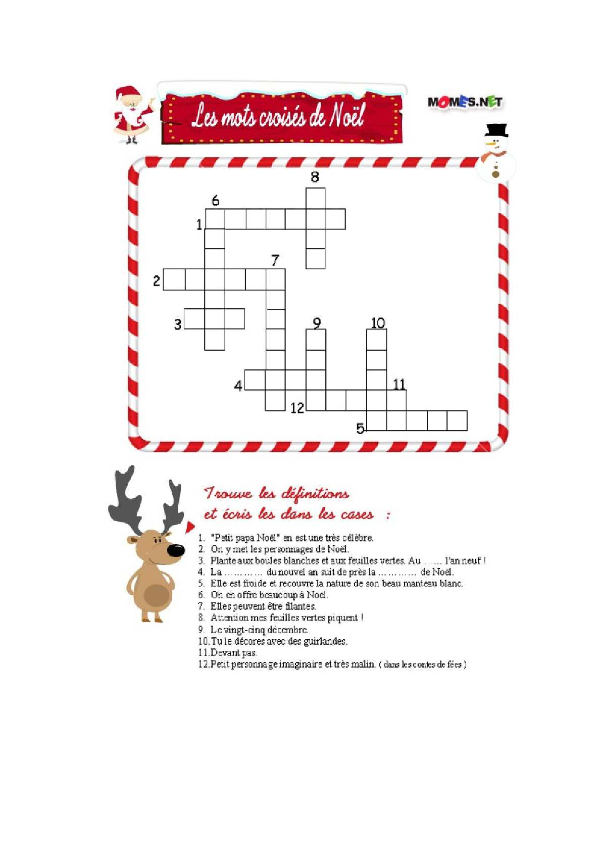 Calaméo - Mots Croisés De Noël intérieur Mots Croisés Noel