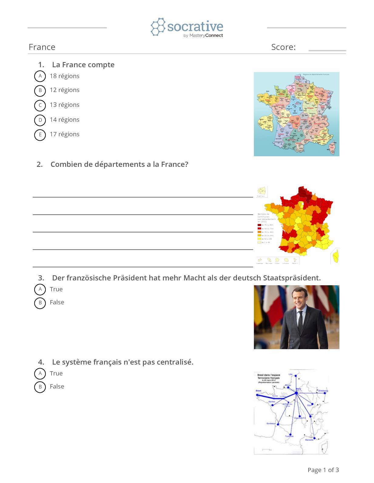 Calaméo - Quiz France destiné Quiz Régions De France