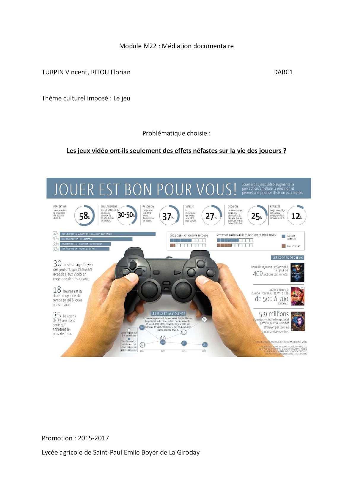 Calaméo - Répercussions Des Jeux Vidéo tout Jeux Video 5 Ans