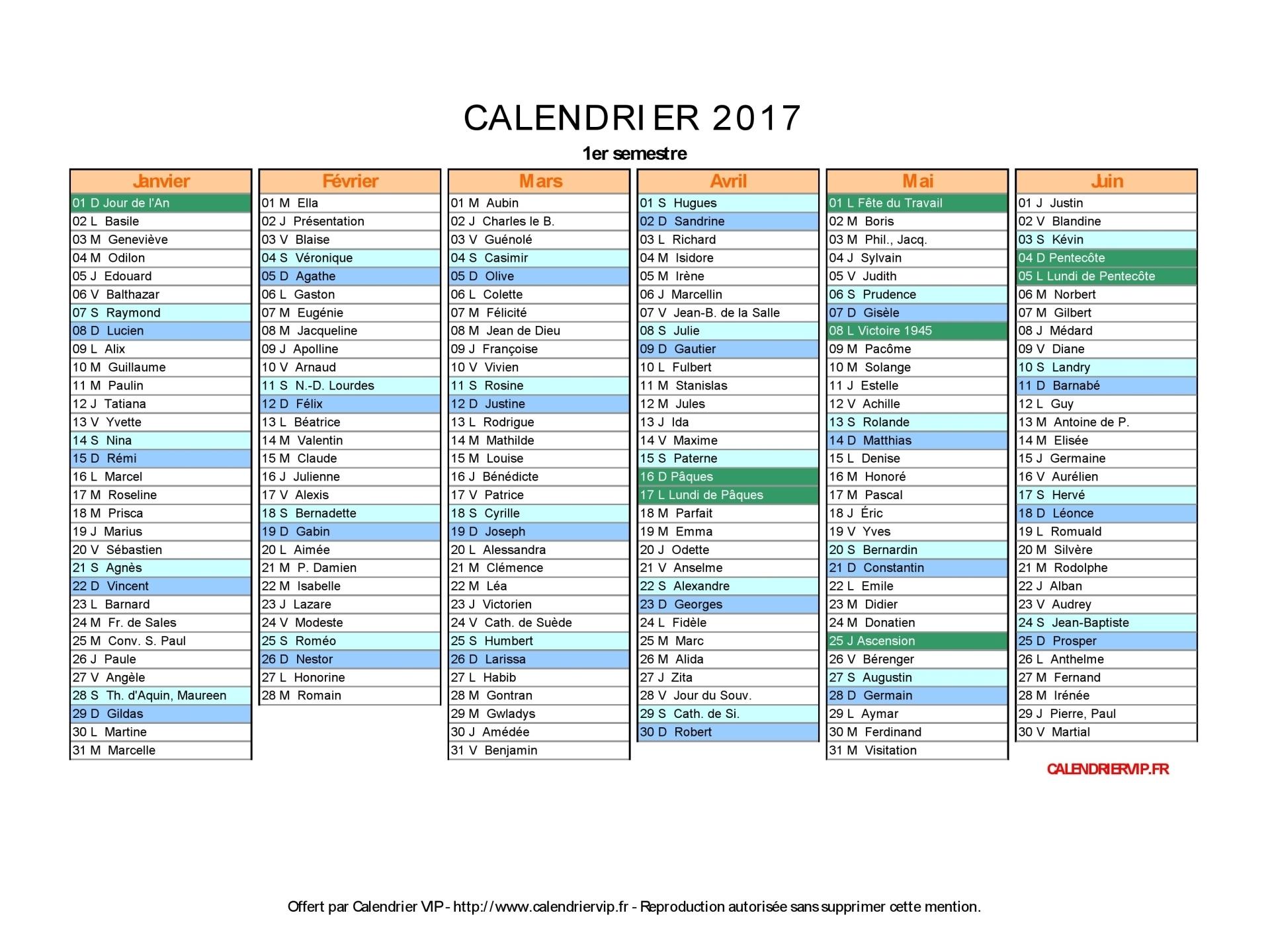 Calendrier 2017 À Imprimer Gratuit En Pdf Et Excel serapportantà Calendrier 2017 Imprimable