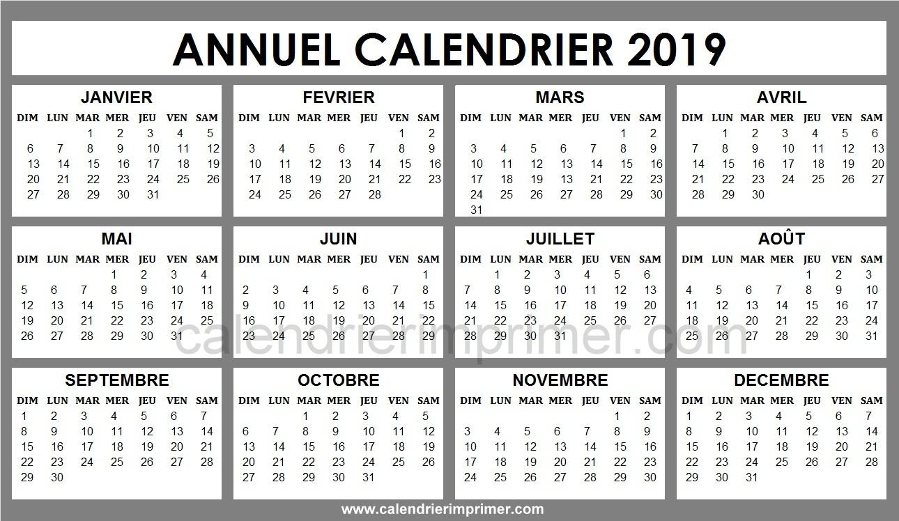 Calendrier 2019 Kawaii A Imprimer | Calendrier Vacances 2019 avec Calendrier Ludique À Imprimer