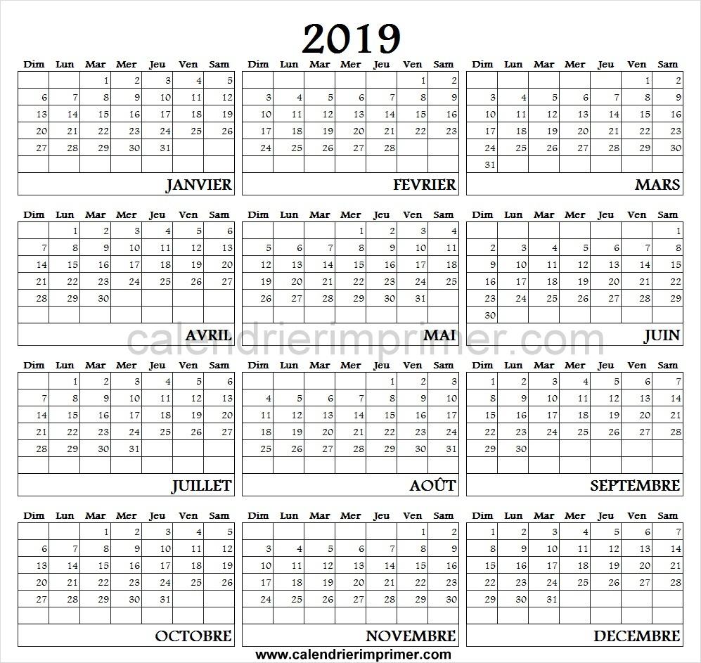 Calendrier 2019 Pdf Avec Vacances Scolaires | Calendrier 2019 intérieur Calendrier 2018 À Imprimer Avec Vacances Scolaires