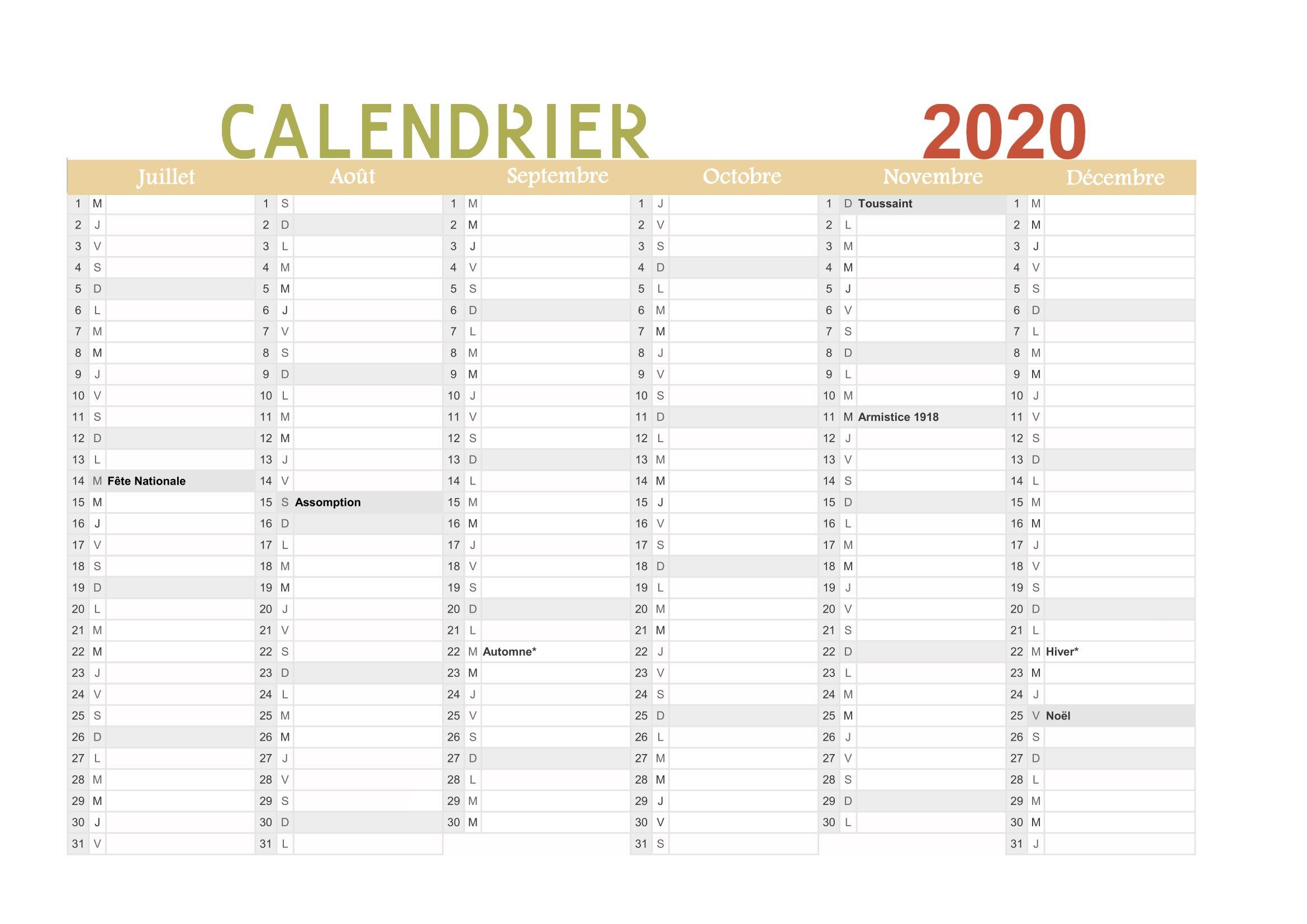 Calendrier 2020 À Imprimer (Gratuit) : Au Format Pdf concernant Calendrier Des Anniversaires À Imprimer Gratuit