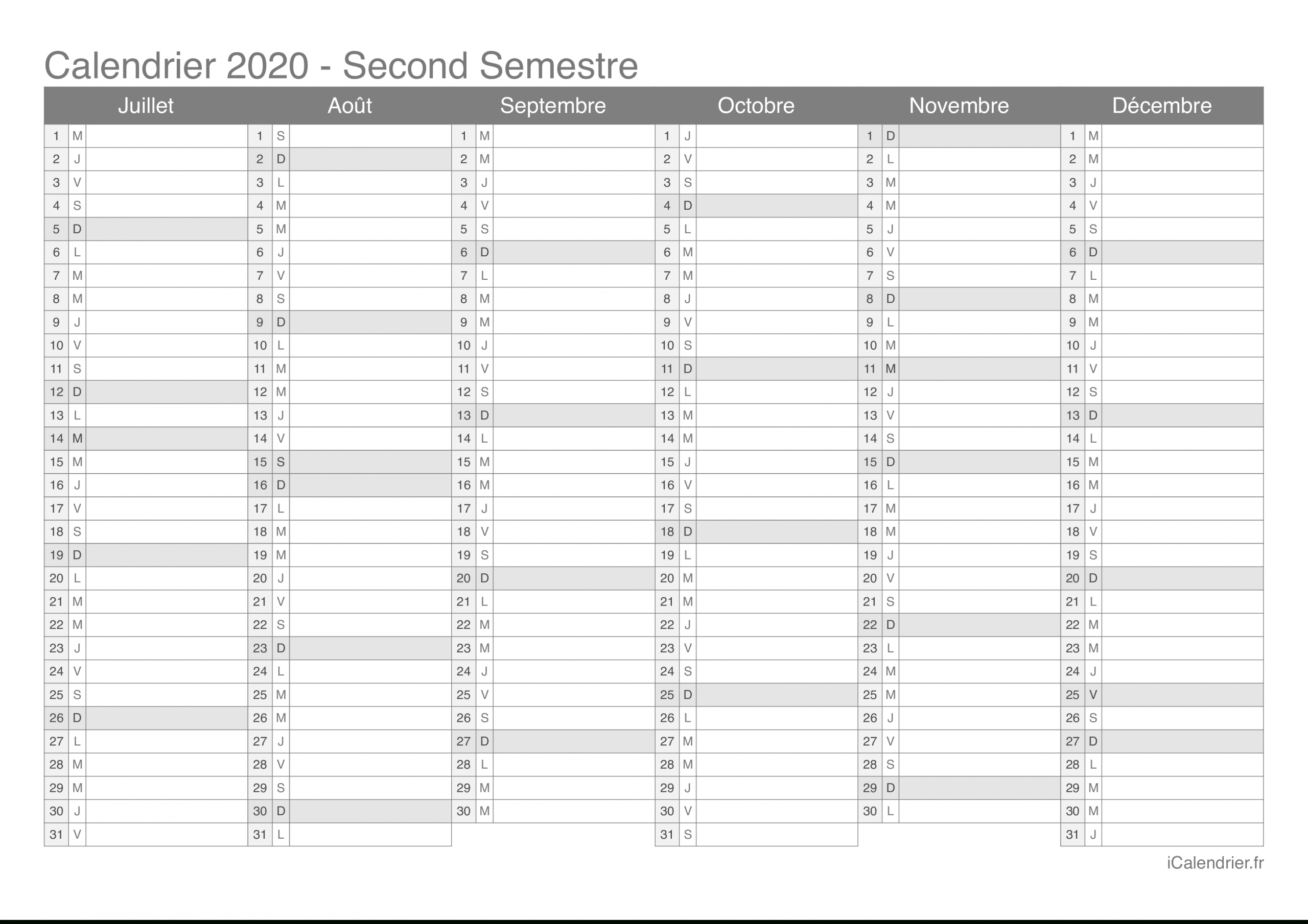 Calendrier 2020 À Imprimer Pdf Et Excel - Icalendrier encequiconcerne Calendrier Ludique À Imprimer