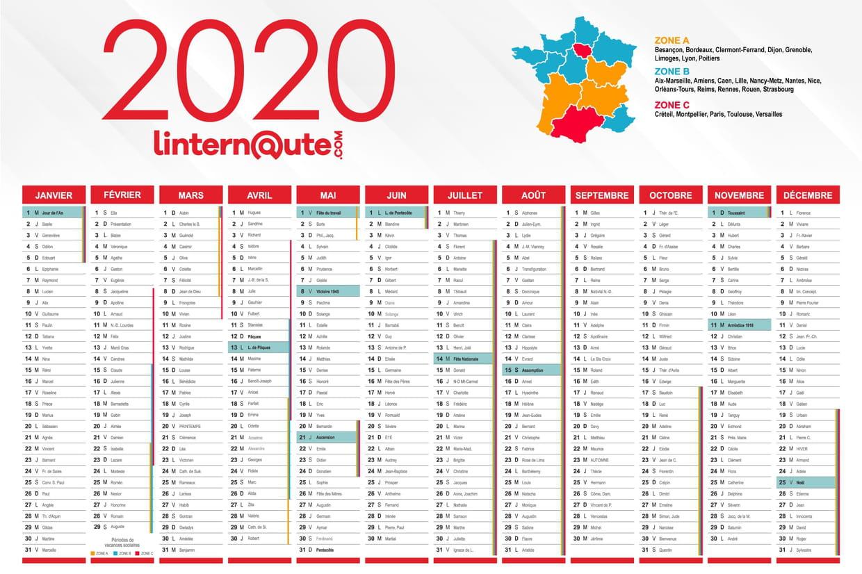 Calendrier 2020 : Calendrier Gratuit À Télécharger Ou À Imprimer concernant Calendrier Des Anniversaires À Imprimer Gratuit