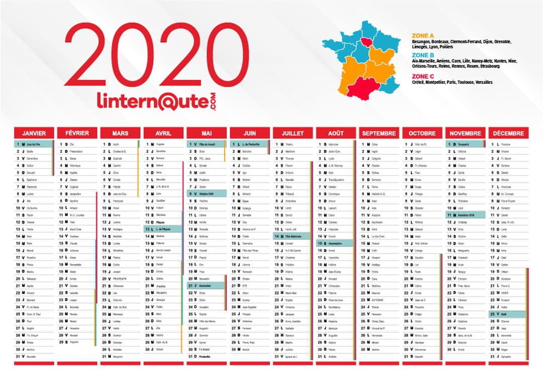 Calendrier 2020 : Calendrier Gratuit À Télécharger Ou À Imprimer intérieur Calendrier D Anniversaire Gratuit À Imprimer
