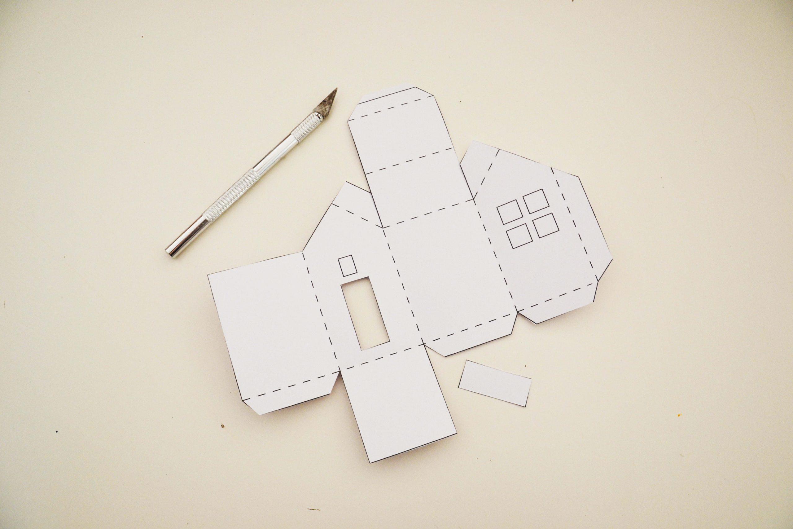 Calendrier De L'avent À Fabriquer : Des Maisonnettes En Papier destiné Maison Papier A Decouper