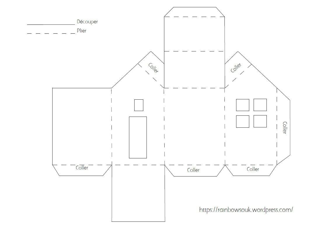 Calendrier De L'avent À Fabriquer : Des Maisonnettes En Papier tout Patron Pour Boite En Carton