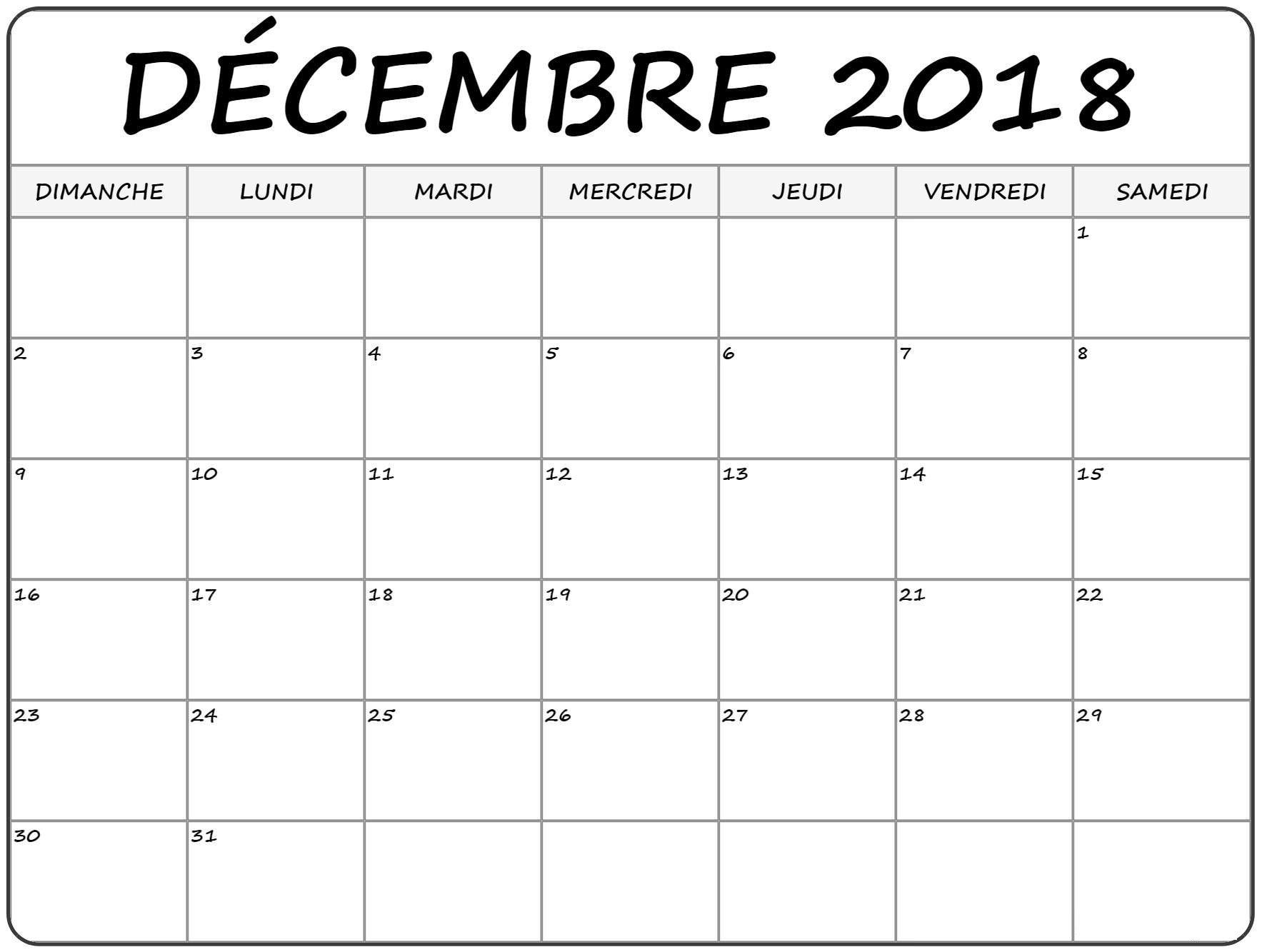 Calendrier Décembre 2018 | Word Search Puzzle, Calendar, Words à Planning Annuel 2018