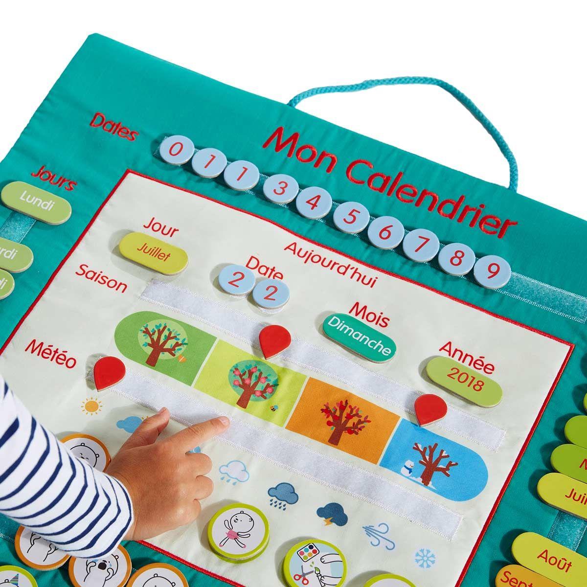 Calendrier En Tissu Educabul Création Oxybul | Cadeau Enfant tout Jeux Pour Enfant De 4 Ans