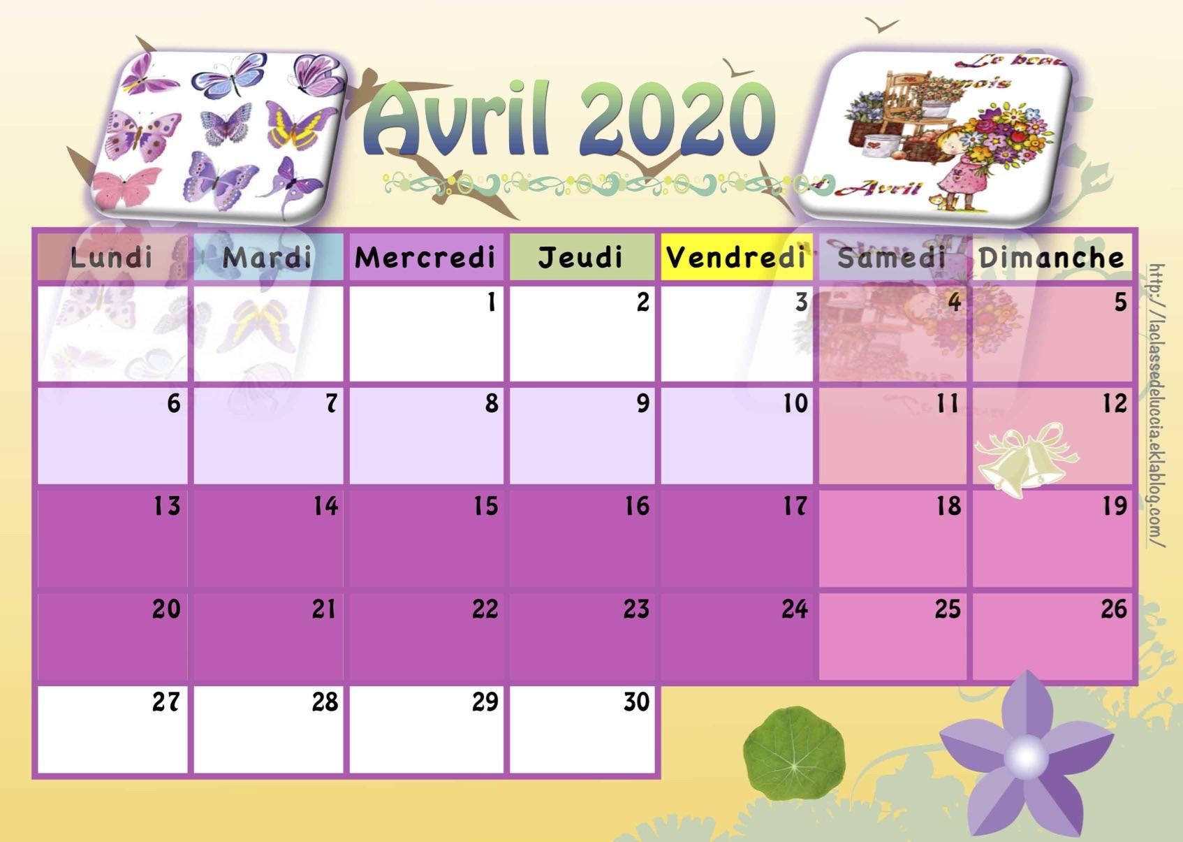 Calendrier Enfant 2019/2020 - La Classe De Luccia ! à Calendrier Ludique À Imprimer