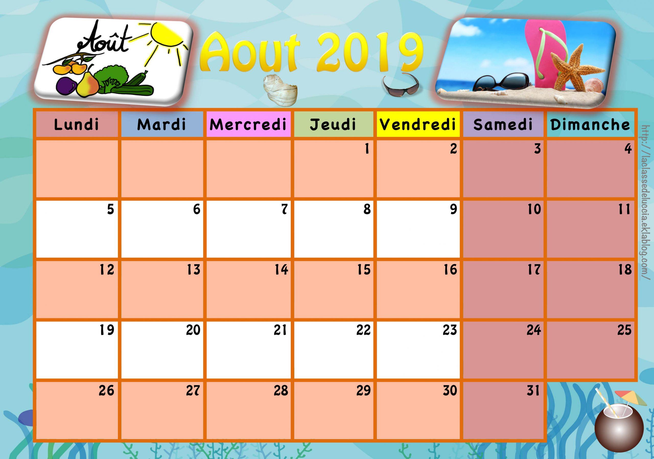 Calendrier Enfant 2019/2020 - La Classe De Luccia ! concernant Calendrier Enfant Semaine