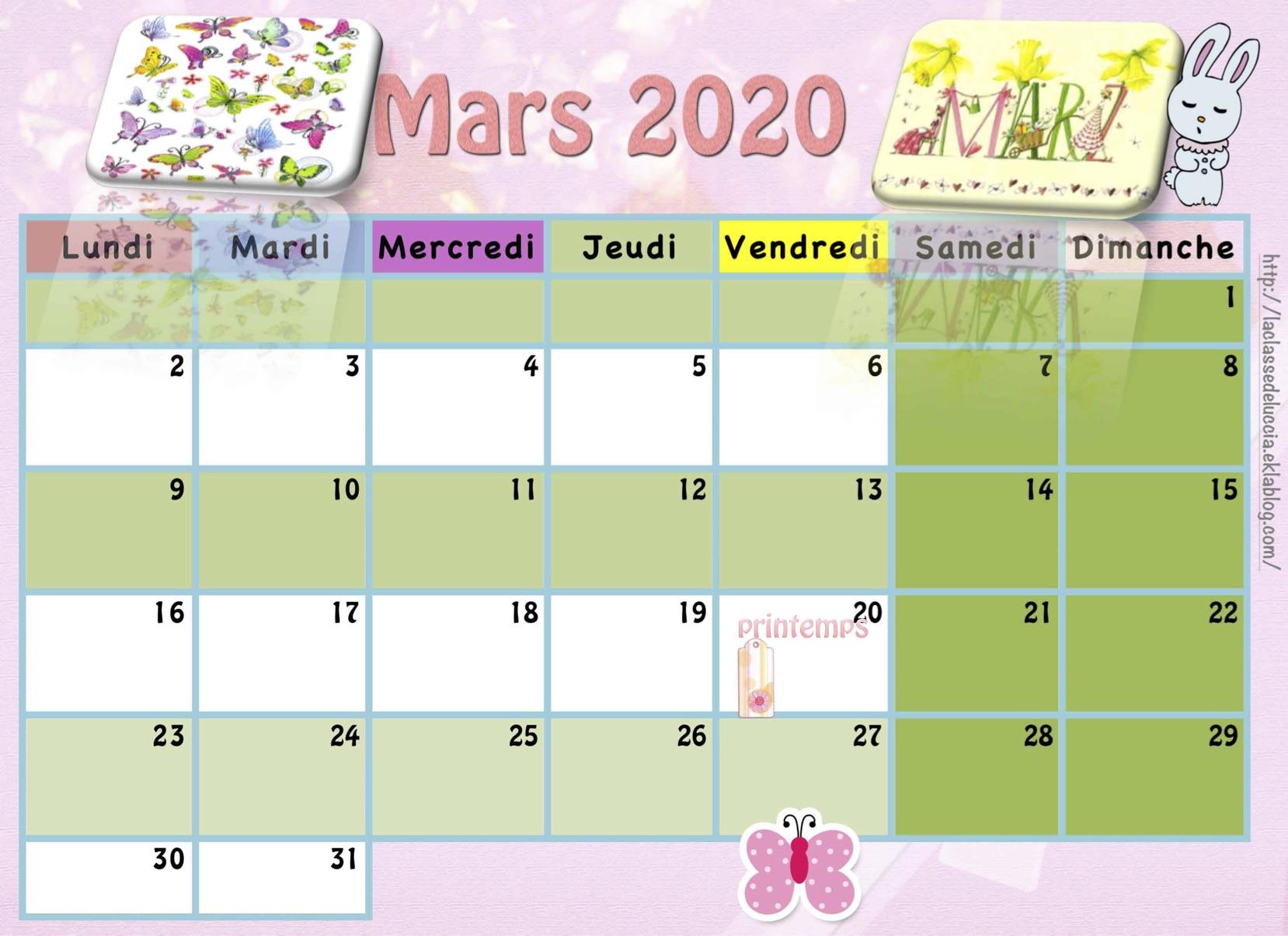 Calendrier Enfant 2019/2020 - La Classe De Luccia ! pour Calendrier Ludique À Imprimer
