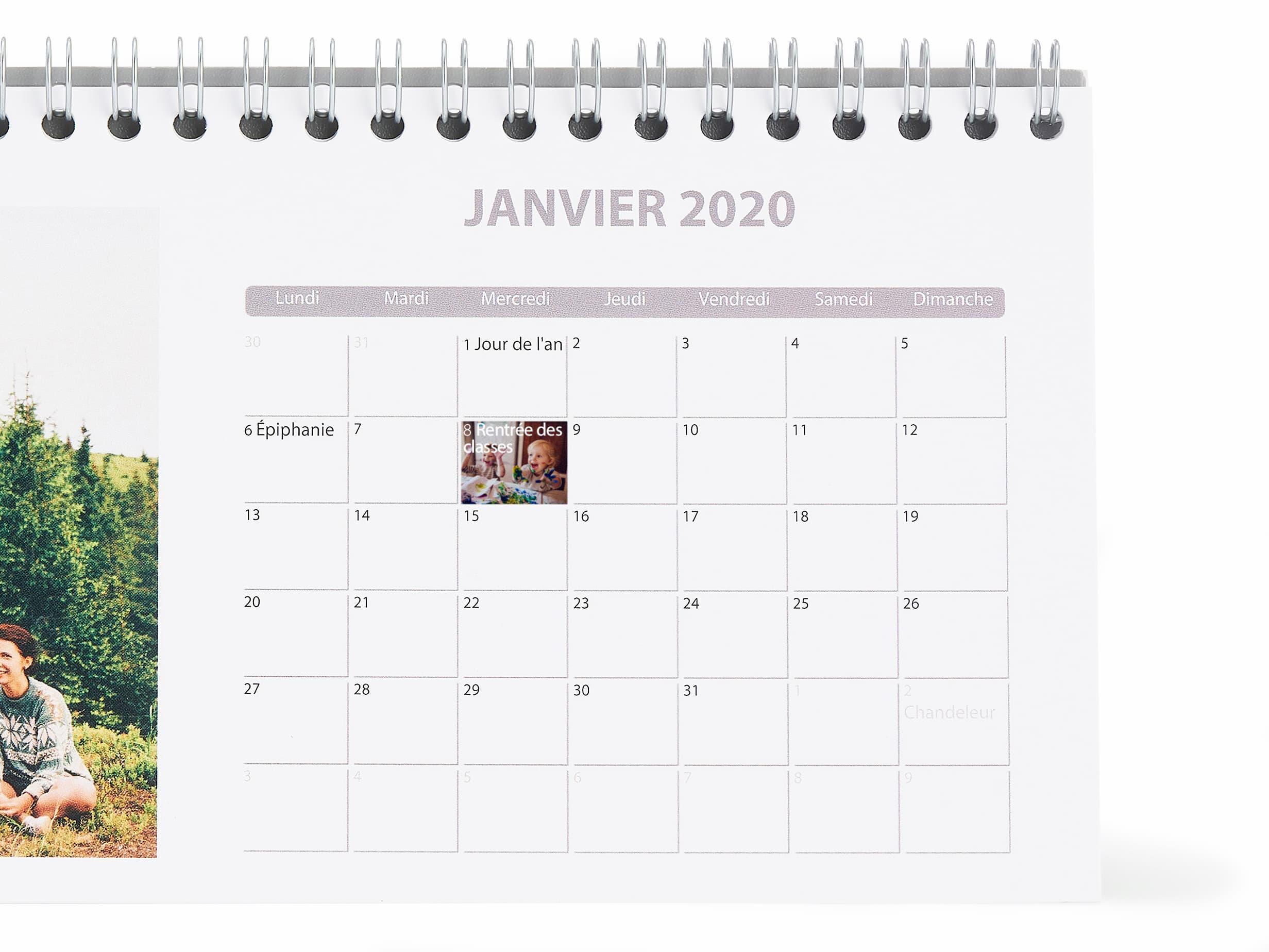 Calendrier Photo À Imprimer | Agenda Personnalisé | Photobox pour Calendrier Perpétuel À Imprimer