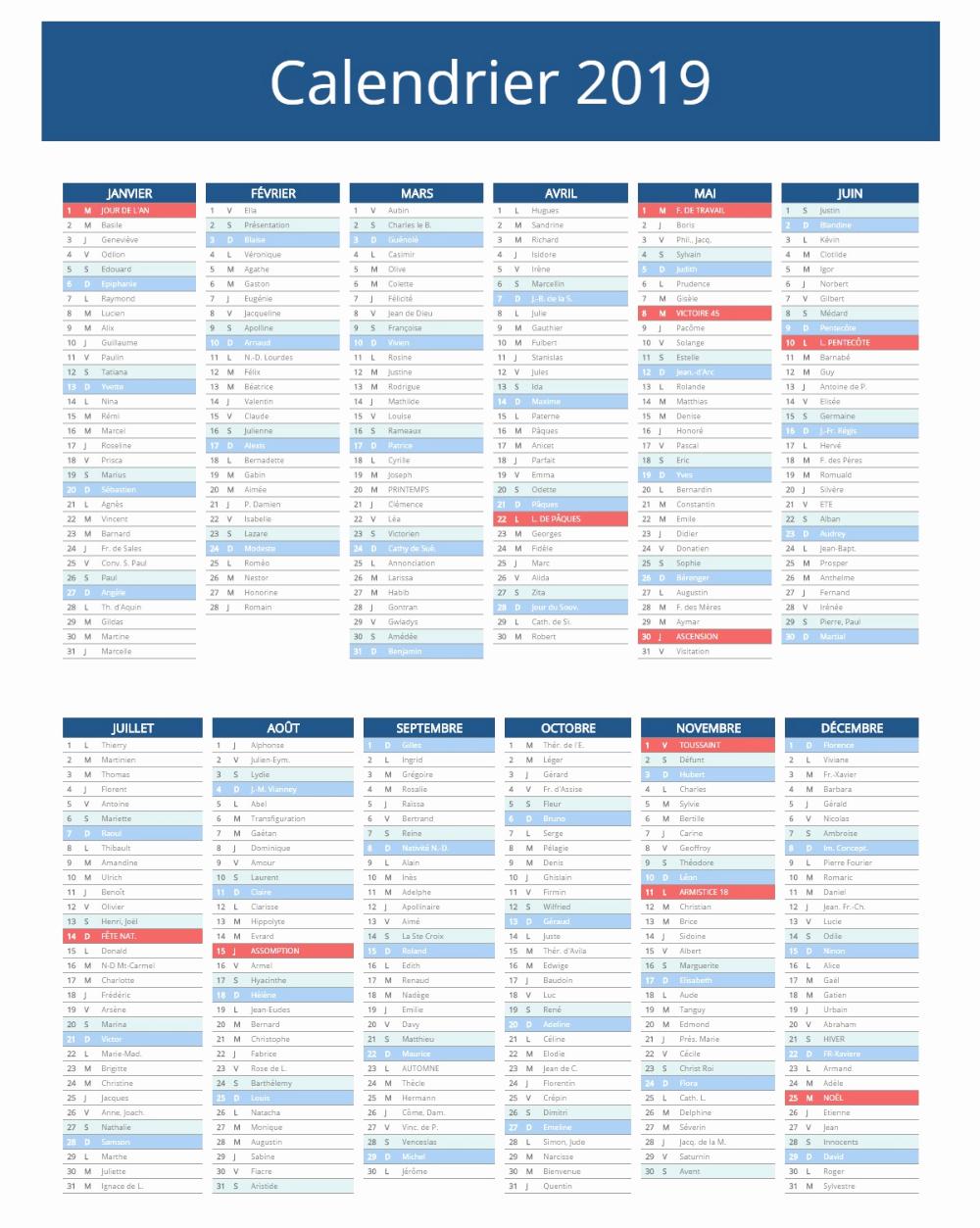 Calendrier Scolaire 2019 2020 Zone A Calendrier 2019 concernant Calendrier 2019 Avec Jours Fériés Vacances Scolaires À Imprimer