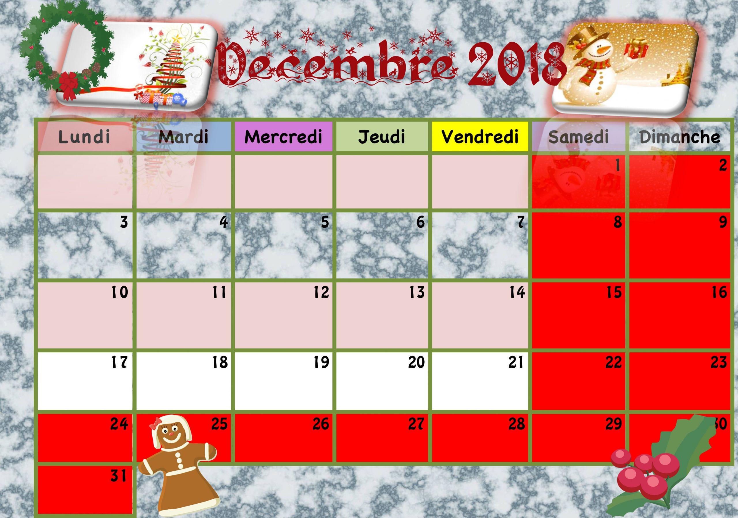 Calendriers Enfants 2018/2019 - La Classe De Luccia ! serapportantà Calendrier 2018 Enfant