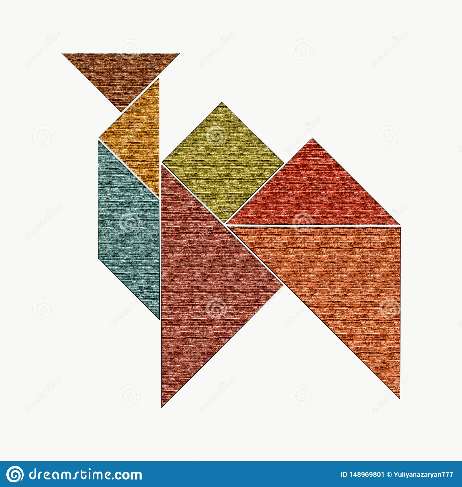 Camel From Wooden Pieces Of Tangram Puzzle Stock Image dedans Pièces Tangram